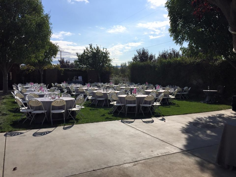 Back Lawn with Tables