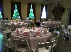 Wedding Tables in Pink